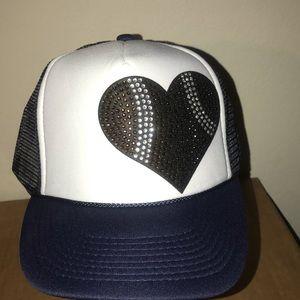 Navy blue Rhinestone Football 🏈 trucker Hat